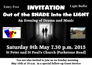 Invitation P & P Outreach Weekend May 9th 2015 a